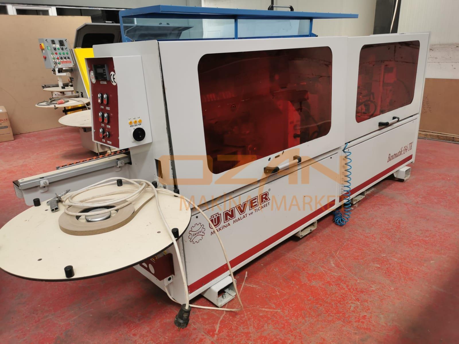 ÜNVER BTK 437 HEAD-END CUTTING MILLED SIDE BANDING MACHINE